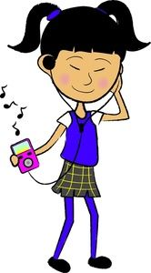 Clipart listen to music picture royalty free library Clip Art of Teenagers | Music Clipart Image - Teenager listening to ... picture royalty free library