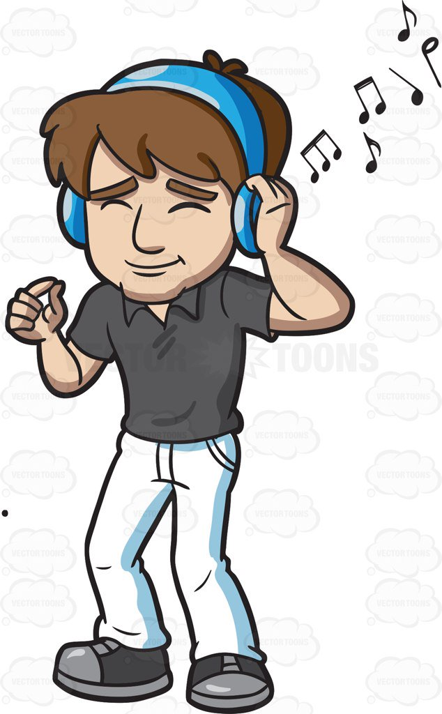 Clipart picture of someone listening to music png transparent download Listening music clipart » Clipart Station png transparent download