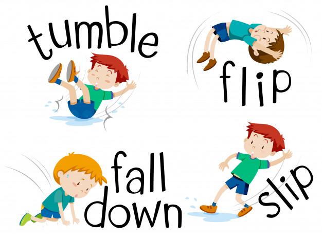 Clipart little girl falling tumbling banner transparent library Boy flipping and falling down Vector | Free Download banner transparent library