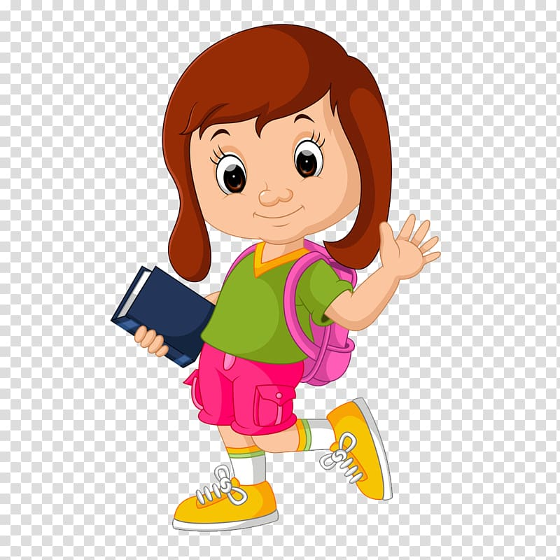 Girl sitting next to a girl clipart svg transparent library Girl holding book illustration, Student School , School girl ... svg transparent library