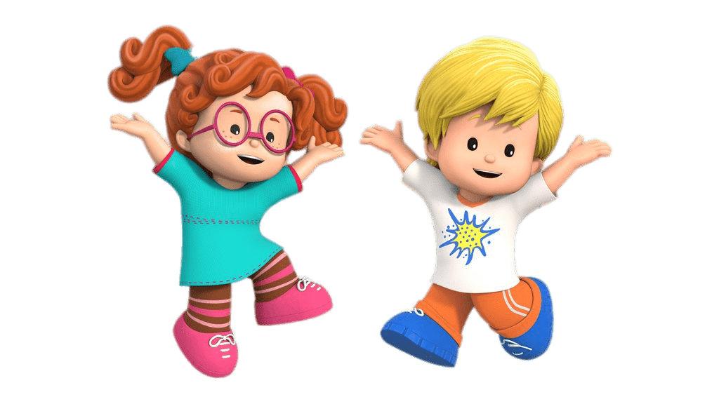 Clipart little people clip freeuse Little People Sofie and Eddie Jumping transparent PNG - StickPNG clip freeuse