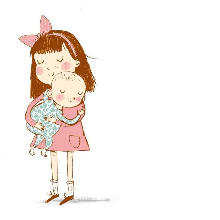 Clipart little sister svg freeuse Image result for older sister and baby sister clipart | Art | Sister ... svg freeuse