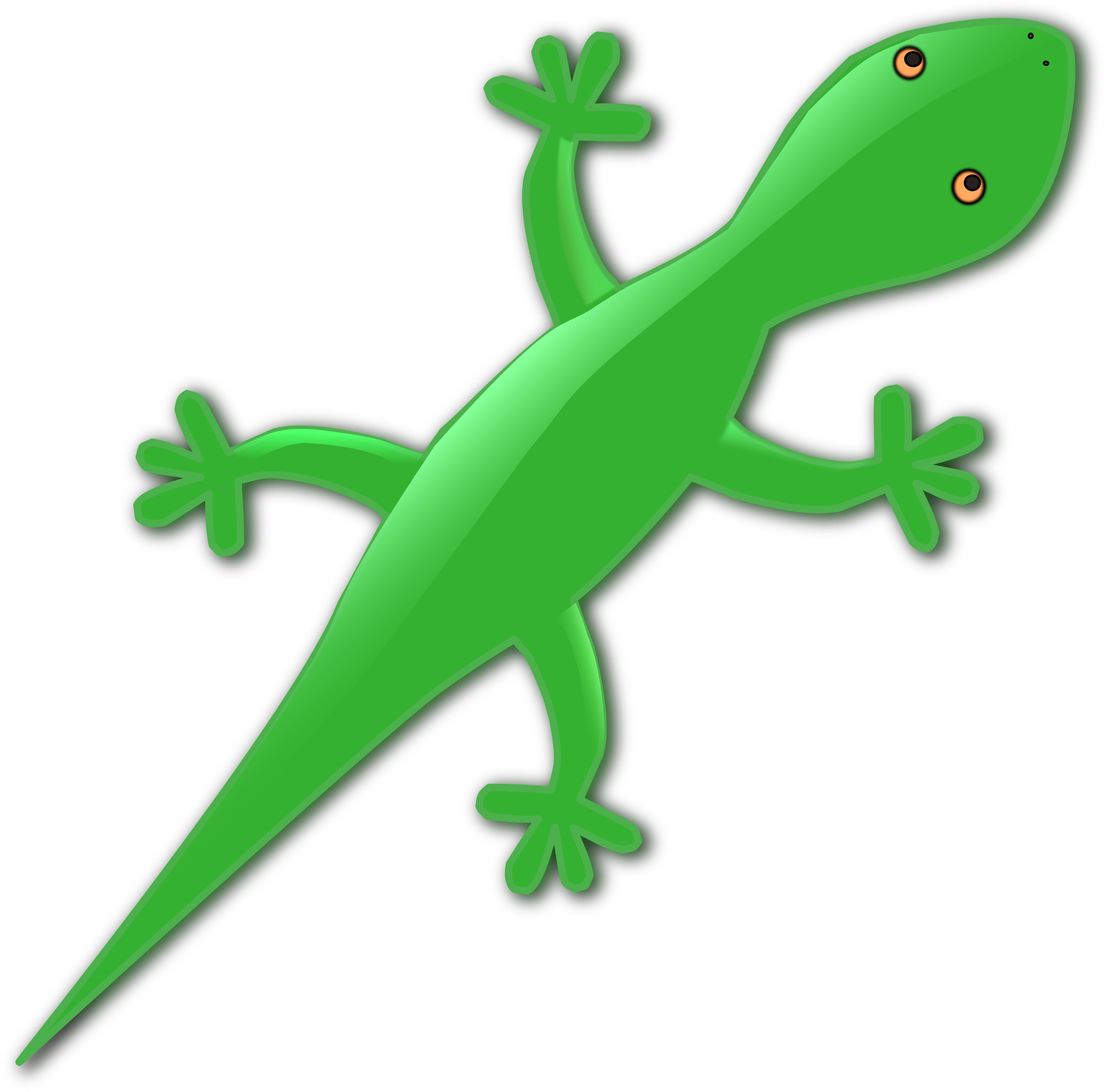 Clipart gecko banner stock Green Gecko Lizard Vector Clipart image - Free stock photo - Public ... banner stock