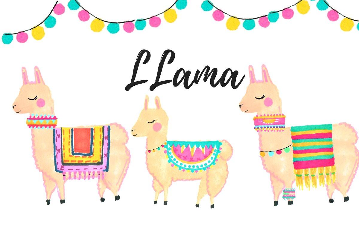 Llama clipart images jpg Hand Drawn Doodle Llama Clipart jpg