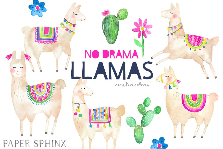 Llama clipart images banner transparent stock No Drama Llamas Clipart banner transparent stock