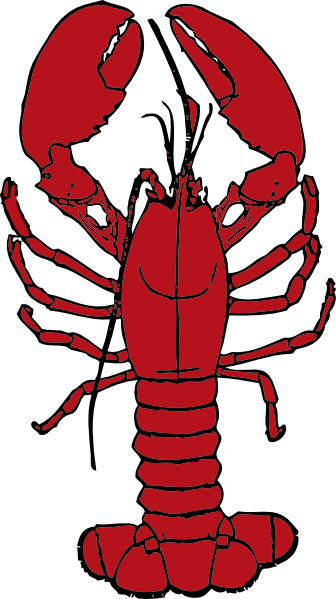 Clipart lobster svg black and white Lobster Clip Art at Clker.com - vector clip art online, royalty free ... svg black and white