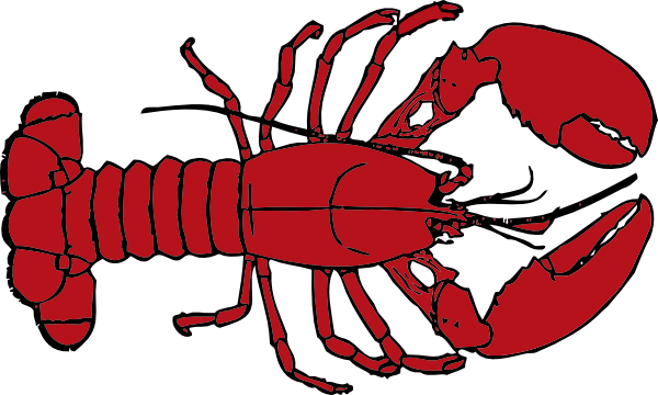 Lobsters clipart banner library download lobster clipart | Lobster Outline clip art - vector clip art online ... banner library download