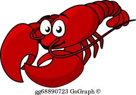 Clipart lobster svg royalty free library Lobster Clip Art - Royalty Free - GoGraph svg royalty free library