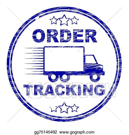 Clipart logistics tracking image royalty free library Stock Illustration - Order tracking stamp means logistics trackable ... image royalty free library