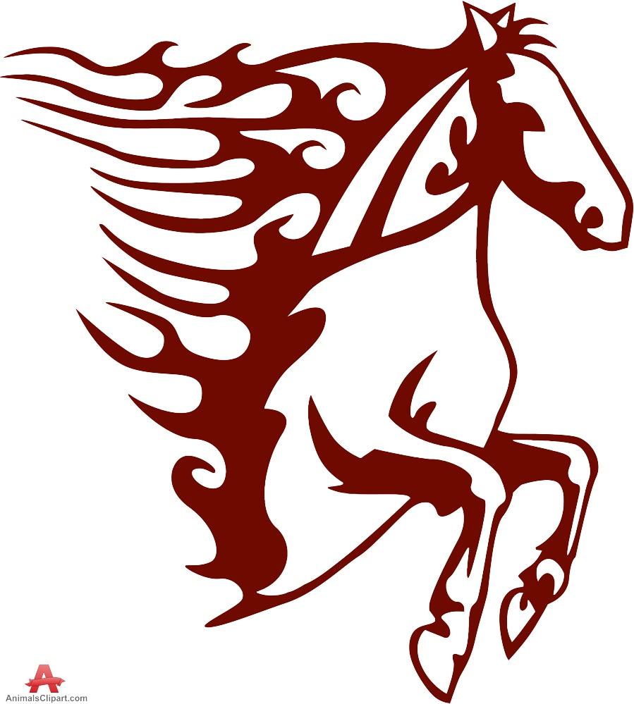 Clipart logo creator banner transparent stock Tribal Horse Tattoo or Logo Design | Free Clipart Design Download banner transparent stock