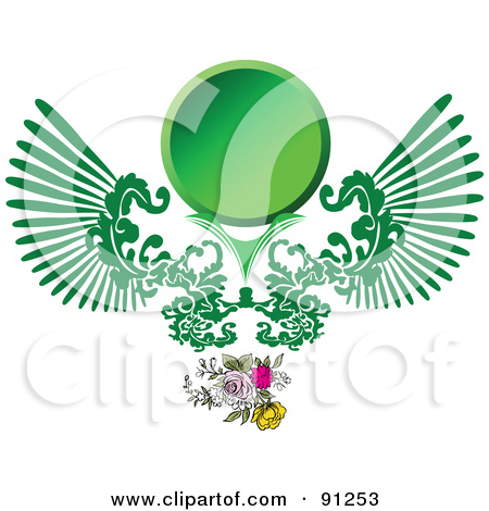 Clipart logo creator transparent Royalty-Free (RF) Clipart Illustration of a Green Logo Design With ... transparent