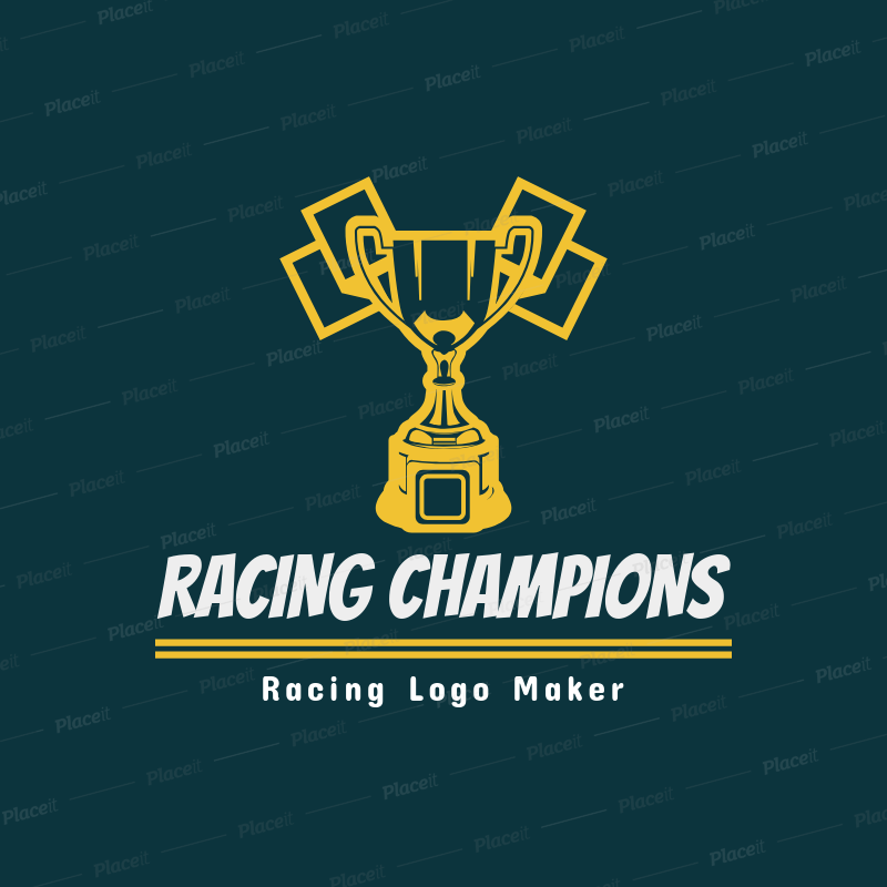 Clipart logo text maker royalty free Racing Logo Maker with Trophy Clipart 1648e royalty free