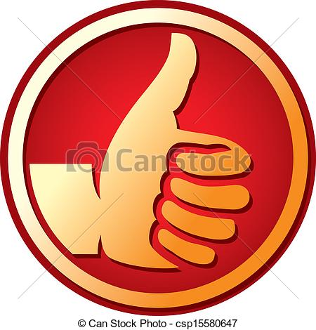 Clipart logo thumbs up. Eps vector of symbol