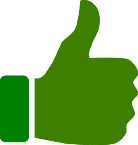 Green best . Clipart logo thumbs up