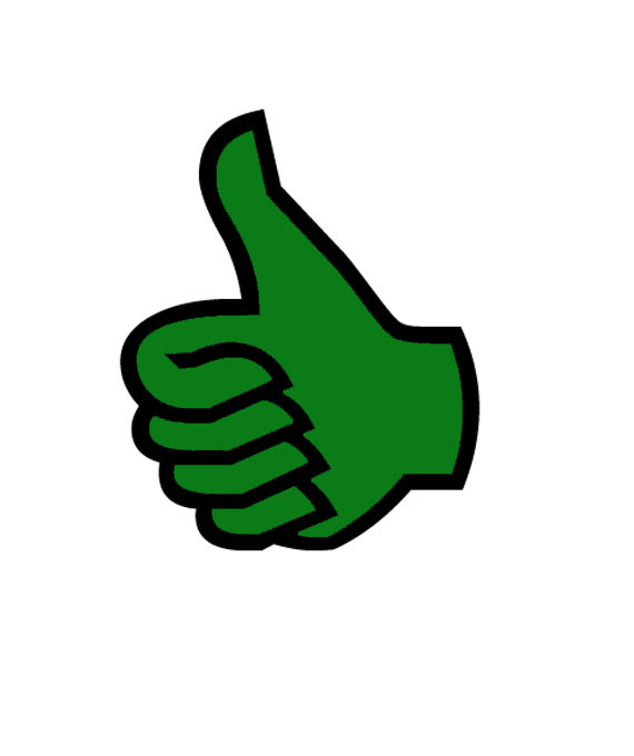 Clipart logo thumbs up. Best green