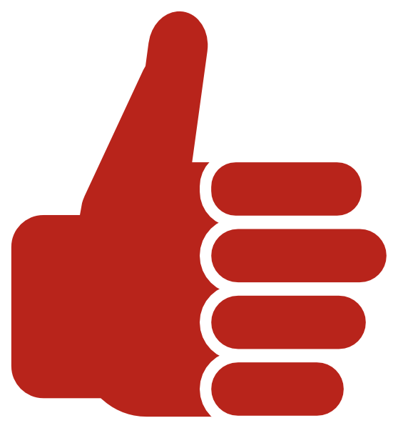 Clipart logo thumbs up. Red thumb clip art