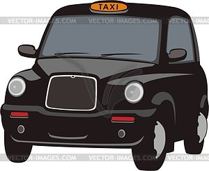 Clipart london taxi jpg black and white London Taxi Cab - vector clip art jpg black and white