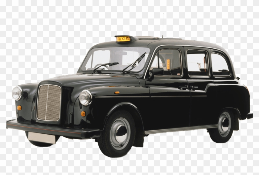 Clipart london taxi black and white library Black Cab London - London Taxi Translucent Background, HD Png ... black and white library