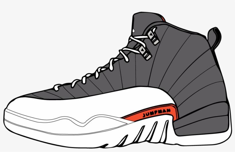 Jordan clipart picture Vector Sneakers Shoe Jordan - Jordan Sneaker Clip Art - Free ... picture