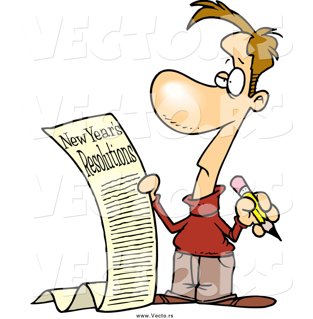 Clipart long list. Vector of a cartoon