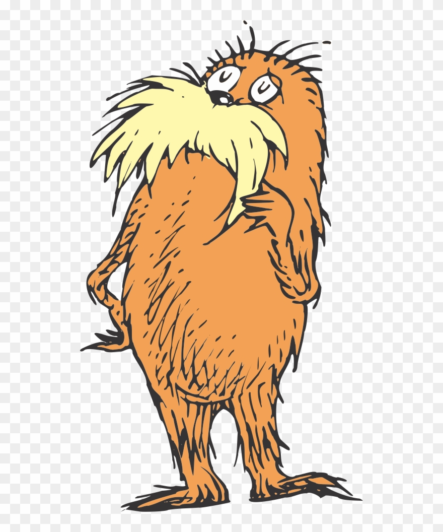 Dr seuss lorax clipart vector royalty free library Rondaderk - Com - - Dr Seuss Characters The Lorax Clipart (#4131244 ... vector royalty free library
