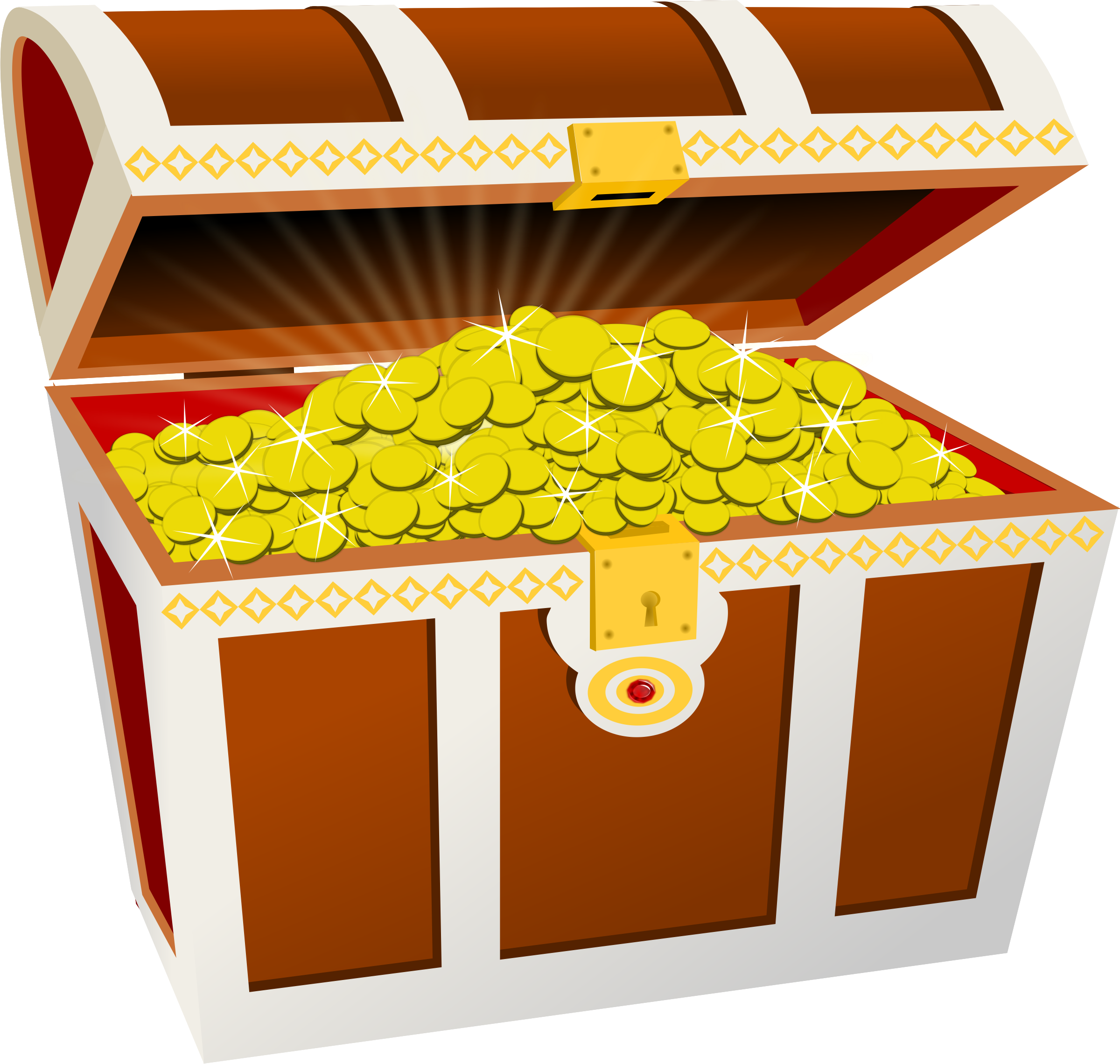 Clipart money gold image library download Clipart - Treasure chest image library download