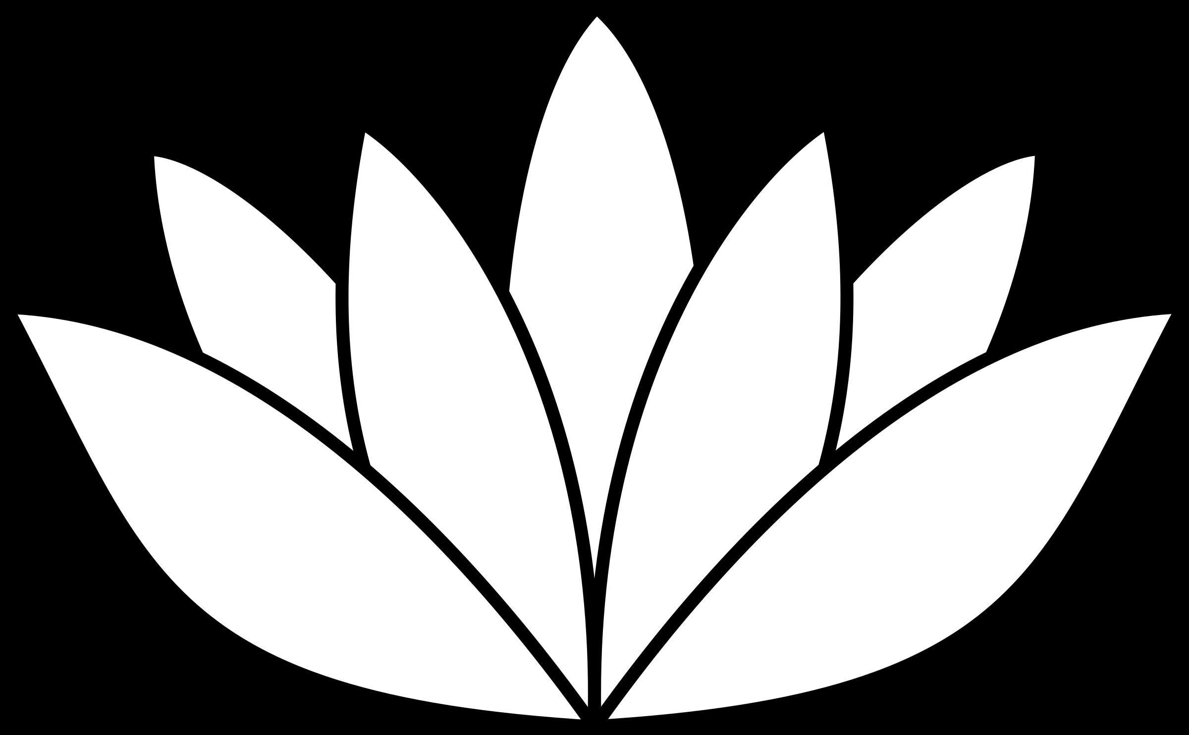Lotus flower clipart black white banner library library Clipart - white lotus flower banner library library