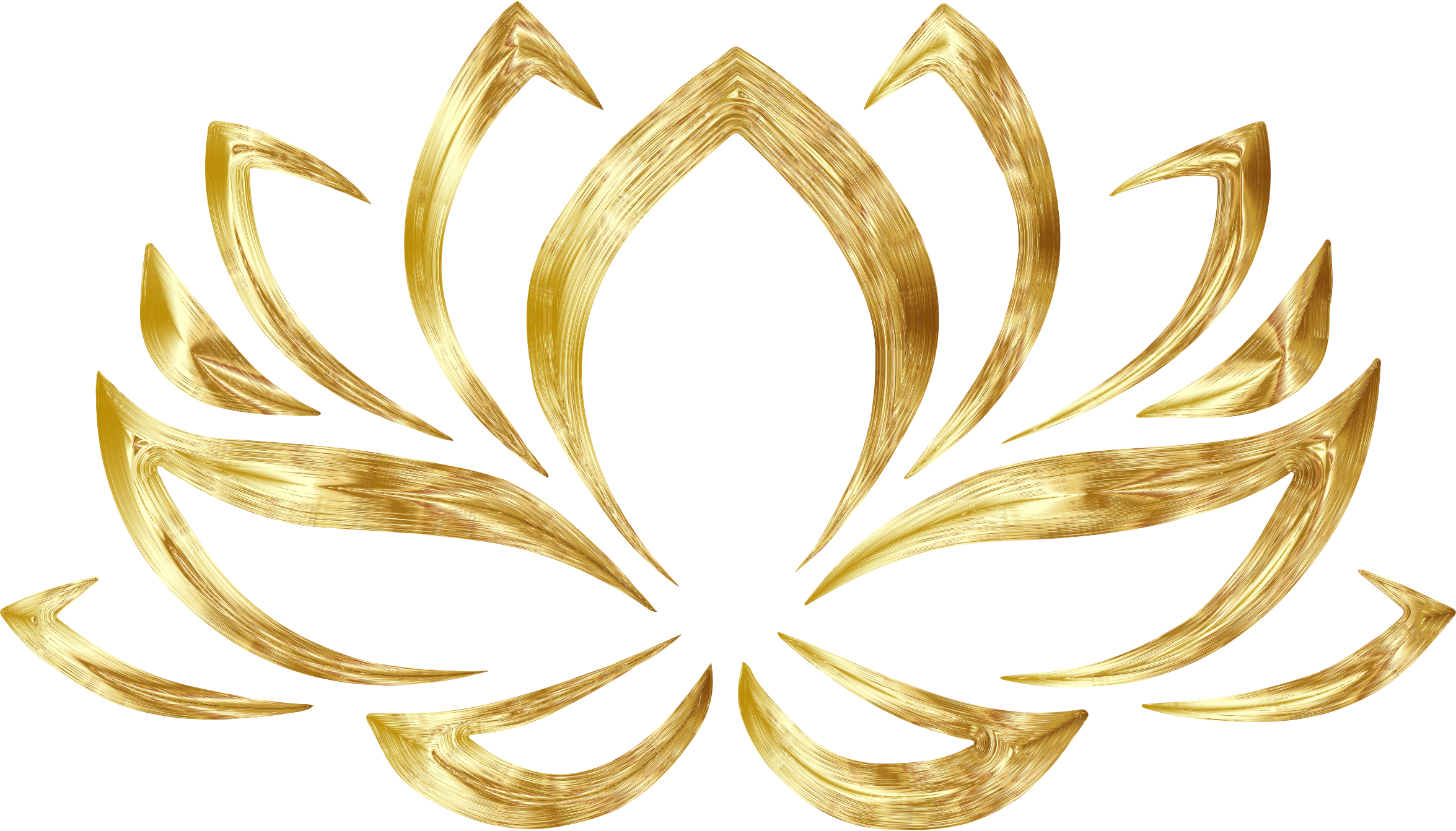 Lotus flower clipart png library library Clipart - Goldenized Lotus Flower png library library