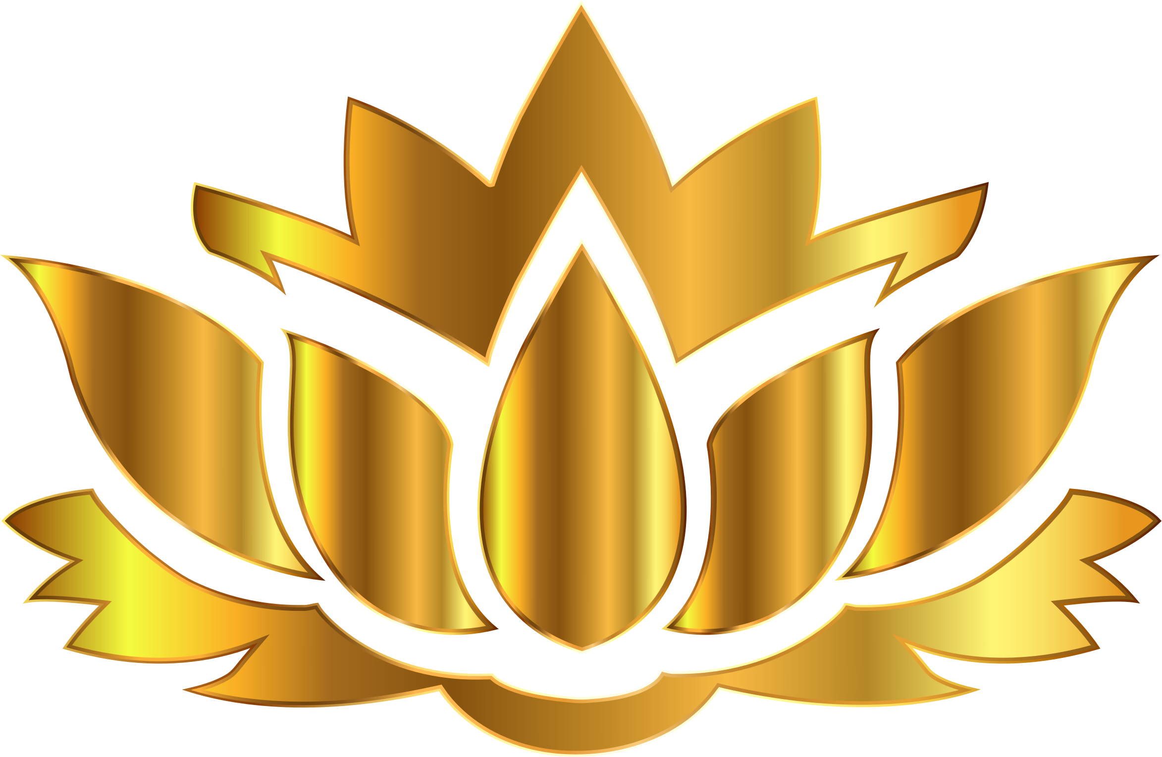 No money clipart no background clipart free download Clipart - Gold Lotus Flower Silhouette No Background clipart free download