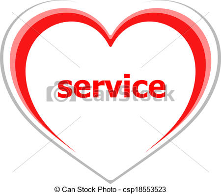 Clipart love and service