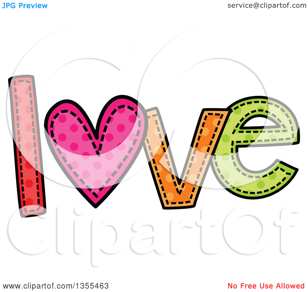 Clipart love and service clip art library library Clipart of a Cartoon Stitched Word Love - Royalty Free Vector ... clip art library library