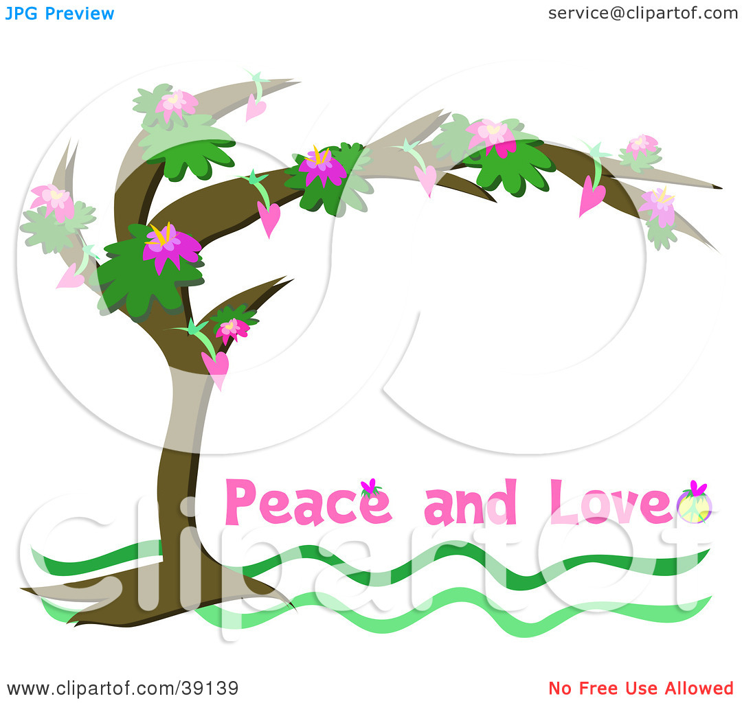 Clipart love and service clip art royalty free stock Clipart Illustration of a Flowering Tree Arching Over A White ... clip art royalty free stock