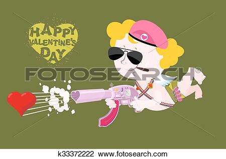 Clipart love and service clipart library download Clipart of Happy Valentines day. Army Valentine. Military Cupid ... clipart library download