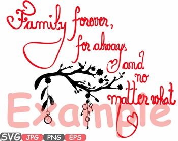 Clipart love family png download Family Forever SVG Word Art clipart tree love Branches family quote -510s png download