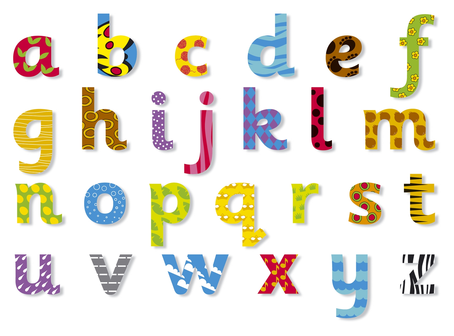 Clipart lower case letters clipart freeuse library Lower case alphabet clipart - ClipartFest clipart freeuse library
