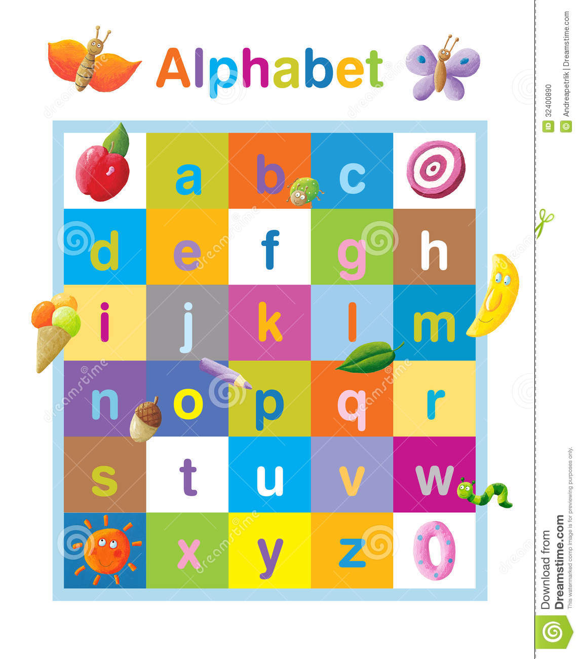 Clipart lower case letters svg library stock Funny Alphabet Lower Case Stock Photo - Image: 32400890 svg library stock