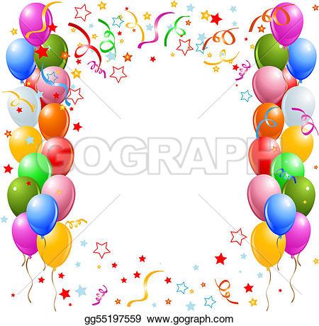 Clipart luftballon geburtstag clipart transparent Helium Clip Art - Royalty Free - GoGraph clipart transparent