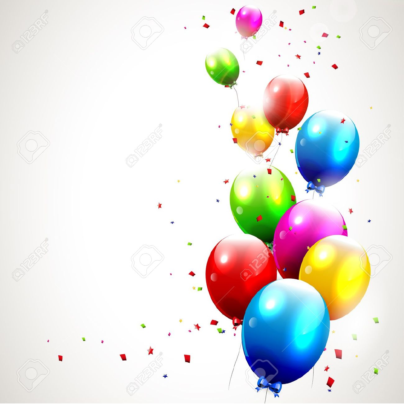 Clipart luftballon geburtstag clip free library Luftballons Blau Lizenzfreie Vektorgrafiken Kaufen: 123RF clip free library