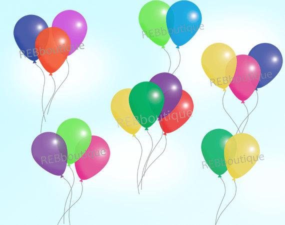 Clipart luftballon geburtstag clip black and white stock ClipArts Luftballons Clip Art BallonsTrauben Geburtstag clip black and white stock
