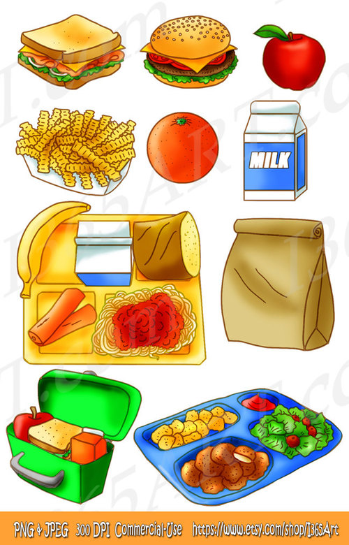 Clipart lunch food clipart image royalty free download Clipart lunch food clipart - ClipartFest image royalty free download