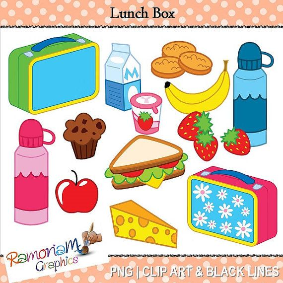 Clipart lunch food clipart svg royalty free download Lunch box foods clipart for preschoolers - ClipartFest svg royalty free download