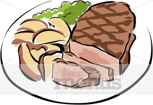Clipart lunch food clipart vector free stock Clip Art Of Dinner Meals Clipart - Clipart Kid vector free stock