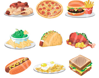 Clipart lunch food clipart clip art transparent library Lunch food clipart - ClipartFest clip art transparent library