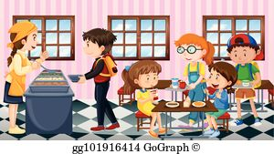 Clipart lunch room jpg transparent library Lunch Room Clip Art - Royalty Free - GoGraph jpg transparent library