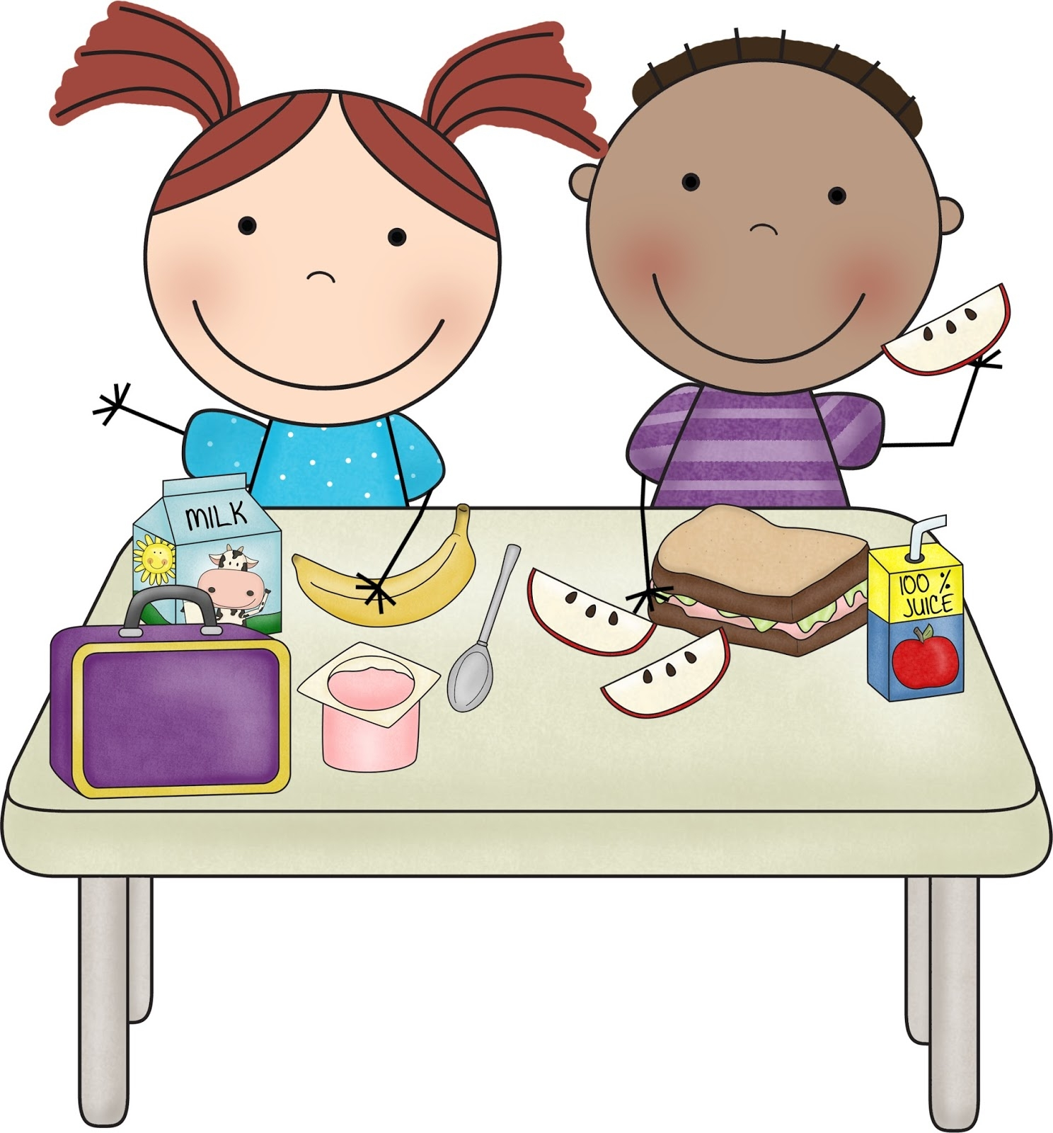 Clipart lunch with the teacher free Clipart of teacher and student eating lunch - Clip Art Library free