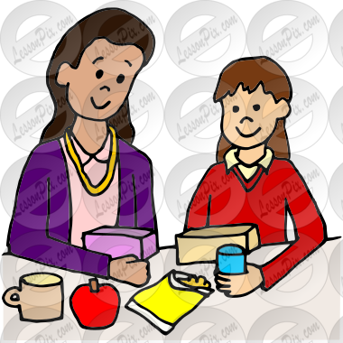 Clipart lunch with the teacher png transparent download Lunch with the Teacher Picture for Classroom / Therapy Use - Great ... png transparent download