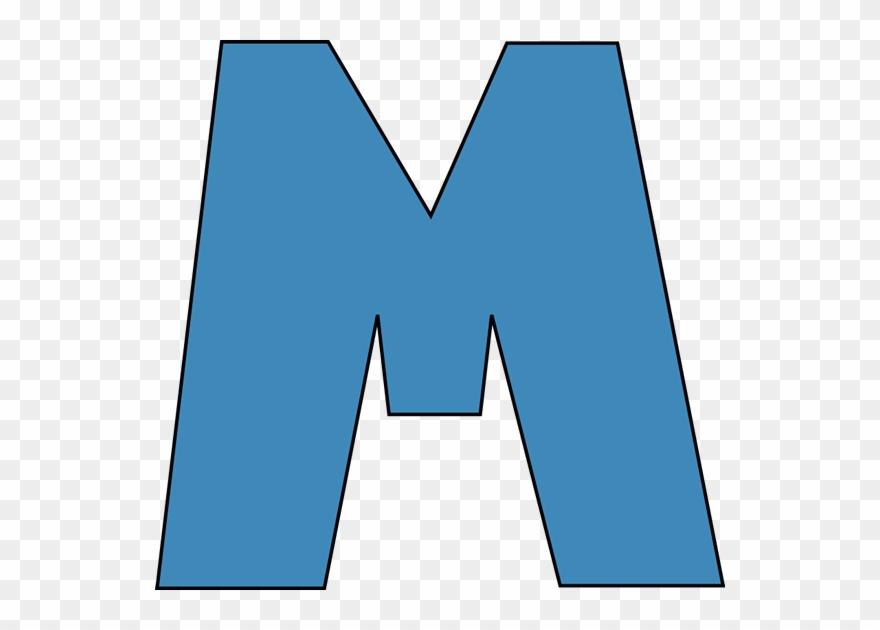 Clipart m vector transparent library The Letter M Free Clip Art - Letter M Clipart Blue - Png Download ... vector transparent library