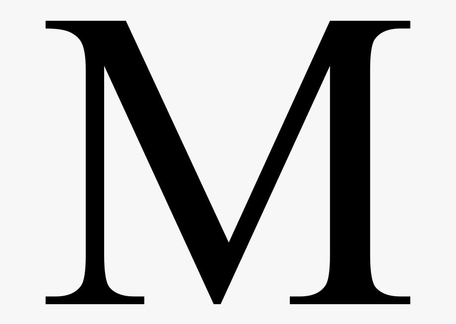 Clipart m banner free Greek Letter M Clipart , Png Download - Clipart Letter M #587891 ... banner free