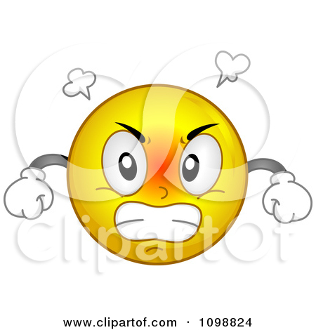Clipart mad. Clipartfest yellow smiley