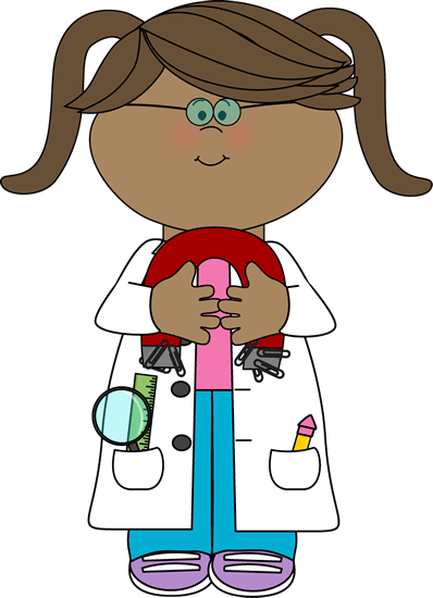 Clipart mad girl image black and white Kid Scientist with a Magnet with a Magnet | Specials | Science ... image black and white